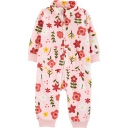 Carter's Baby Girl Floral Zip-Up Fleece Jumpsuit found on Bargain Bro India from Macy's for $13.20