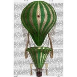 Fab Funky Tiered Hot Air Balloon, Green Canvas Art - 36.5