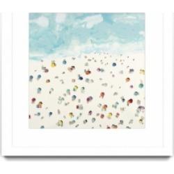 "Giant Art Beach Days Matted and Framed Art Print, 36"" x 36"""