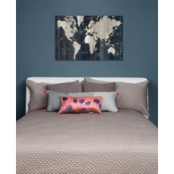 "iCanvas ""Old World Map Blue"" by Wild Apple Portfolio Gallery-Wrapped Canvas Print"