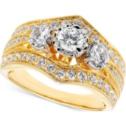 Diamond Three-Stone Engagement Ring (1-1/4 ct. t.w.) in 14k Gold found on Bargain Bro India from Macy's for $3442.05