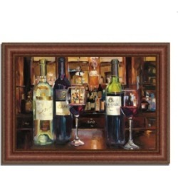 Tangletown Fine Art A Reflection of Wine by Marilyn Hageman Framed Painting Print, 37