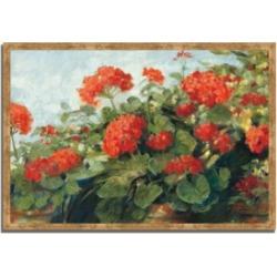Tangletown Fine Art Geranium Wave by Carol Rowan Framed Painting Print, 38