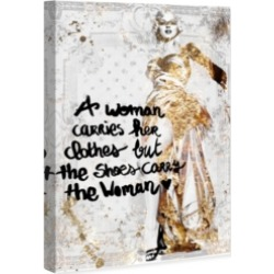 Oliver Gal The Shoe Carries The Woman Canvas Art, 10