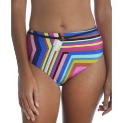 Trina Turk Illusions Stripe Printed High-Waist Bikini Bottoms Women's Swimsuit found on Bargain Bro from Macy's for USD $66.88