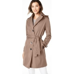 Calvin Klein Petite Belted Hooded Water Resistant Trench Coat, Created for Macys found on Bargain Bro Philippines from Macy's for $129.00