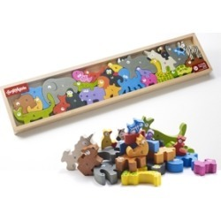 Begin Again Toys Animal Parade A-z Wooden Puzzle