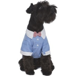 Parisian Pet Square Cuff Dog Shirt With Bow Tie