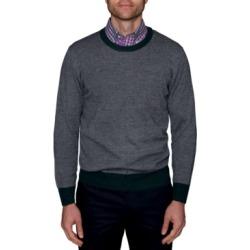 TailorByrd Men's Birdseye Crew-Neck Sweater