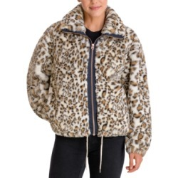 Lucky Brand Leopard-Print Faux-Fur Coat found on MODAPINS from Macy's for USD $127.99
