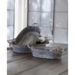 Vip Home & Garden 3-Piece Metal Trays