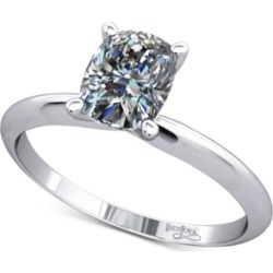 Knife Edged Solitaire Mount Setting in 14k White Gold