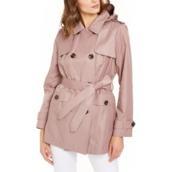 London Fog Hooded Double-Breasted Water-Repellent Trench Coat found on MODAPINS from Macys CA for USD $95.34