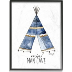 "Stupell Industries Mini Man Cave Tent Framed Giclee Art, 16"" x 20"""
