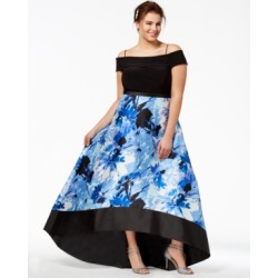 Morgan & Company Trendy Plus Size Off-The-Shoulder Gown found on Bargain Bro from Macy's Australia for USD $111.40