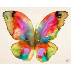 """Creative Gallery Prism Butterfly Watercolor Abstract Portrait Metal Wall Art Print - 24"""" x 36"""""""