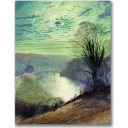 John Atkinson Grimshaw 'On the Tees near Barnard Castle' Canvas Art - 24