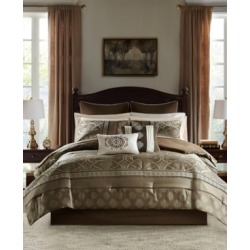 Madison Park Essentials Zara King 16 Piece Jacquard Complete Bedding Set With 2 Sheet Sets Bedding