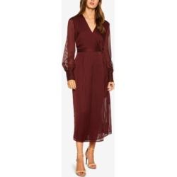Bardot Sheer-Stripe Wrap Dress found on MODAPINS from Macy's for USD $69.99