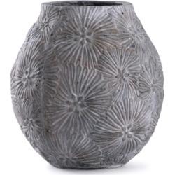 StyleCraft Cleobury Blue Floral Concrete Vase