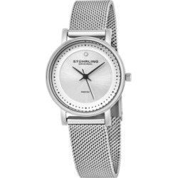 Stuhrling Original Stainless Steel Case on Mesh Bracelet, Silver Dial, With Black Accents, and Diamond At 12 found on Bargain Bro Philippines from Macy's Australia for $102.17