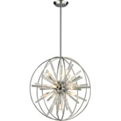 Twilight Collection 10 light pendant in Polished Chrome