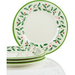 Lenox Holiday Melamine Accent Plates, Set of 4