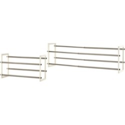 Trinity Basics 2- Tier Expandable Shoe Rack, Pack of 2