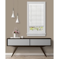 "Cordless Gii Madera Falsa 2"" Faux Wood Plantation Blind, 35x64"