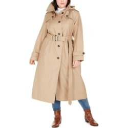 London Fog Plus Size Hooded Trench Coat found on MODAPINS from Macys CA for USD $137.26