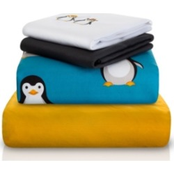 Chital Penguin Double-Brushed Microfiber 4 Piece Twin Sheet Set Bedding found on Bargain Bro Philippines from Macy's for $87.99