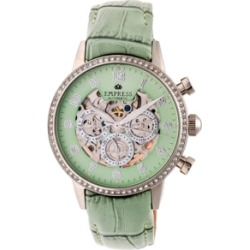 Empress Beatrice Automatic Mint Leather Watch 38mm