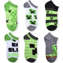 Planet Sox Big Boys 6-Pack Minecraft Socks