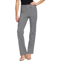 CeCe Houndstooth-Print Career Pants