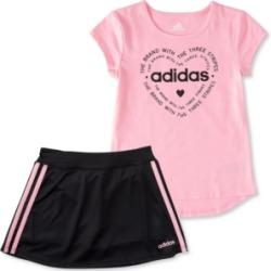 adidas Toddler Girls Tee and Skort Set