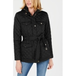 Michael Michael Kors Belted Hooded Quilted Jacket found on MODAPINS from Macys CA for USD $210.94