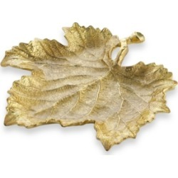 Michael Aram Gold Grape Leaf Snack Plate found on Bargain Bro India from Macy's for $70.00