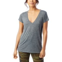 Alternative Apparel Slinky Jersey Women's V-Neck T-Shirt found on MODAPINS from Macy's for USD $34.00