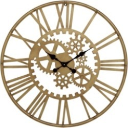 Industrial Style Metal Round Gear Wall Clock with Roman Numerals found on Bargain Bro from Macy's for USD $113.99