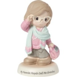 Precious Moments My Favorite People Call Me Grandma Bisque Porcelain Figurine 183008 found on Bargain Bro from Macy's for USD $82.84