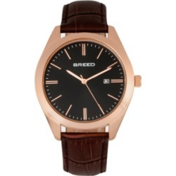 Breed Quartz Louis Rose Gold And Brown And Black Genuine Leather Watches 42mm found on Bargain Bro India from Macy's Australia for $79.68