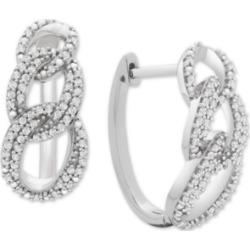 Diamond Interlocking Link Hoop Earrings (1/2 ct. t.w.) in Sterling Silver found on Bargain Bro India from Macys CA for $311.51