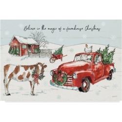 "Anne Tavoletti Holiday on the Farm Ii Believe Canvas Art - 37"" x 49"""