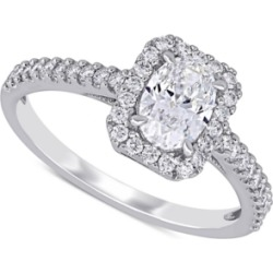 Diamond Oval Center Halo Engagement Ring (1 ct. t.w.) in 14k White Gold found on Bargain Bro India from Macy's for $12400.00