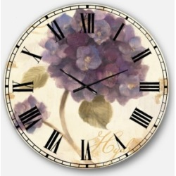 Designart Floral Cottage Oversized Metal Wall Clock found on Bargain Bro Philippines from Macy's Australia for $301.11