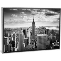 """iCanvas Nyc Downtown by Nina Papiorek Gallery-Wrapped Canvas Print - 26"""" x 40"""" x 0.75"""""""