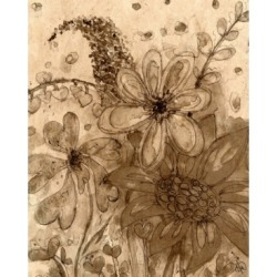 """Creative Gallery Smiley Flowers in Your World in Sepia 24"""" x 20"""" Canvas Wall Art Print"""