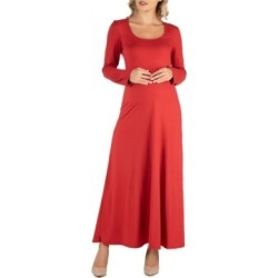 24Seven Comfort Apparel Long Sleeve T-Shirt Maternity Maxi Dress found on MODAPINS from Macy's for USD $55.00