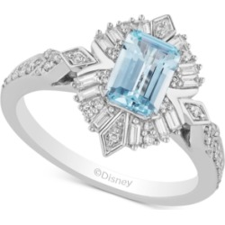 Enchanted Disney Aquamarine (7/8 ct. t.w.) & Diamond (1/3 ct. t.w.) in 14k White Gold Elsa Ring found on Bargain Bro India from Macy's for $1680.00