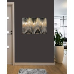 """iCanvas """"Chevron Revisited - Gold"""" by Blakely Bering Gallery-Wrapped Canvas Print (26 x 40 x 0.75)"""